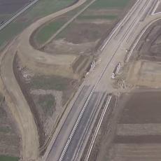 Autostrada A10 Sebes-Turda din avion